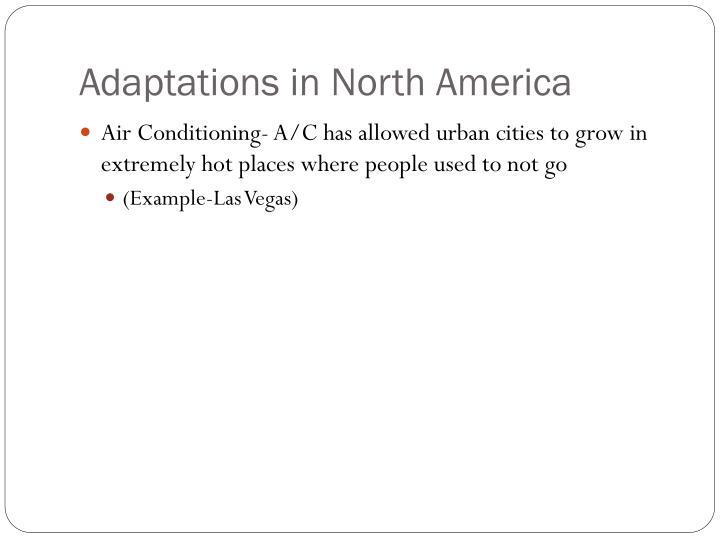 Adaptations in North America