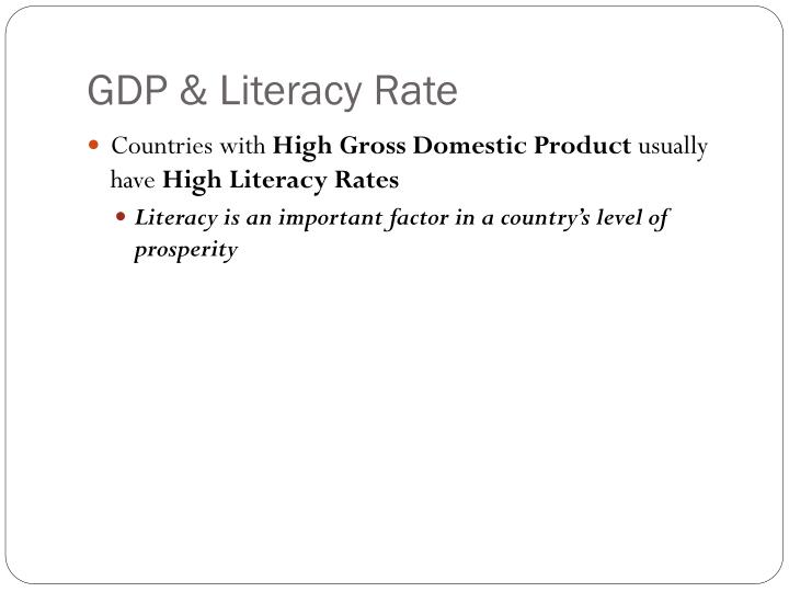 GDP & Literacy Rate