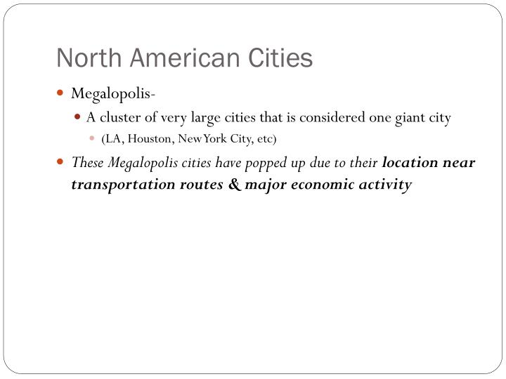 North American Cities