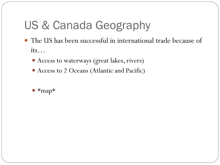 US & Canada Geography