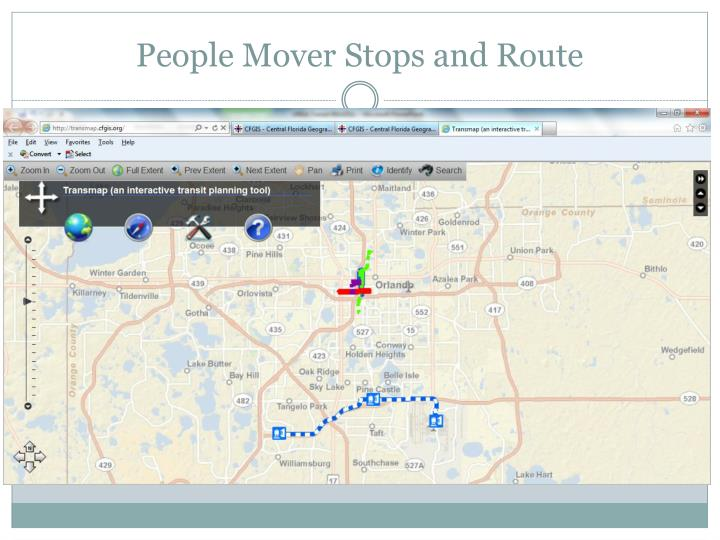 People Mover Stops and Route