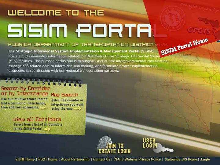 SISIM Portal Home