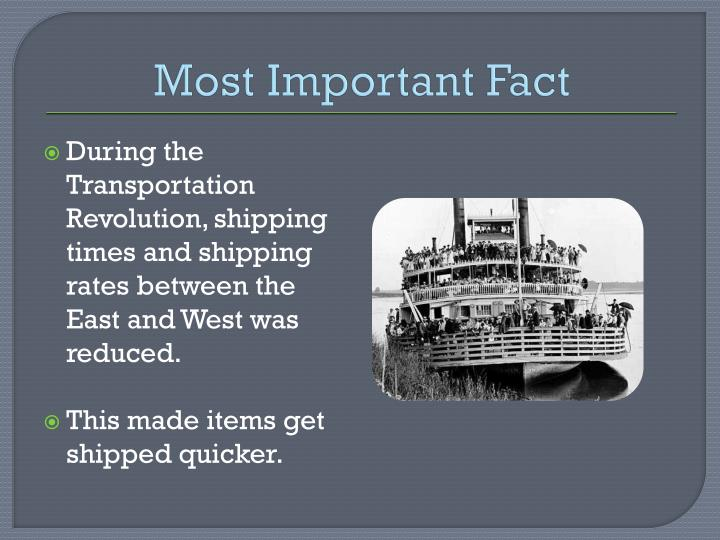 Most Important Fact