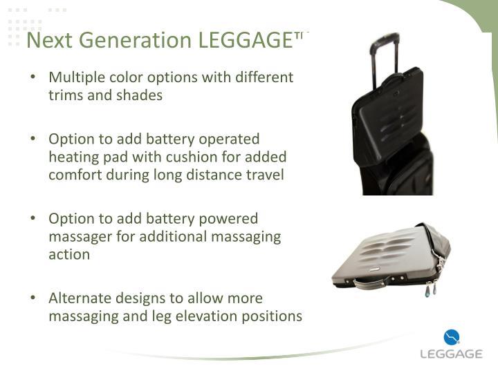 Next Generation LEGGAGE™