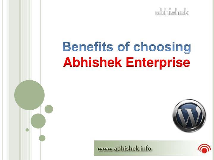 Benefits of choosing
