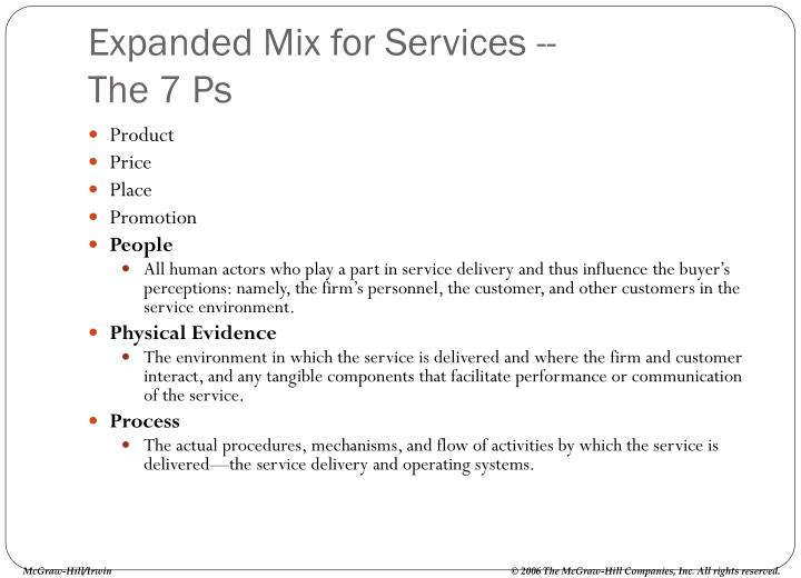 Expanded Mix for Services --
