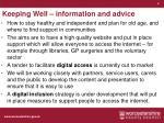 keeping well information and advice