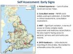 self assessment early signs