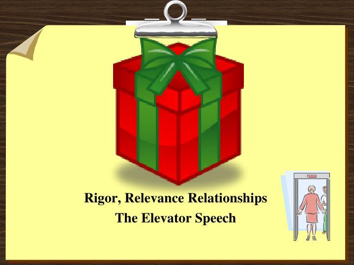Rigor, Relevance Relationships