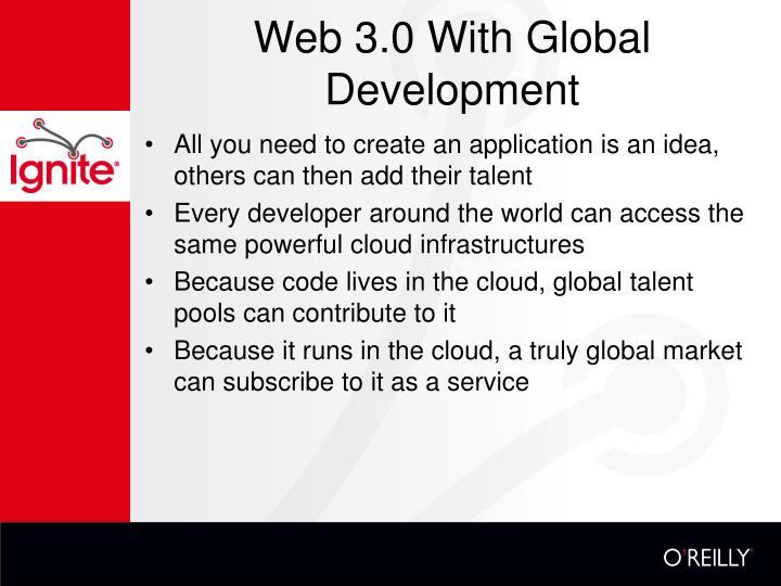 Web 3.0 With Global Development