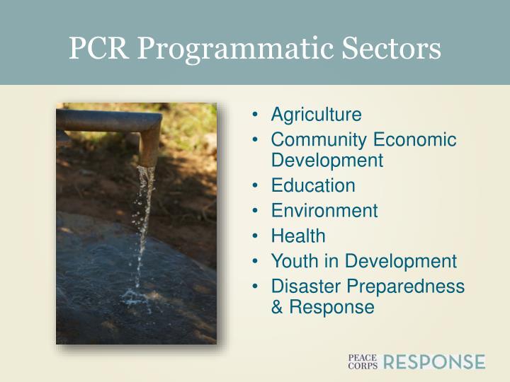 PCR Programmatic Sectors