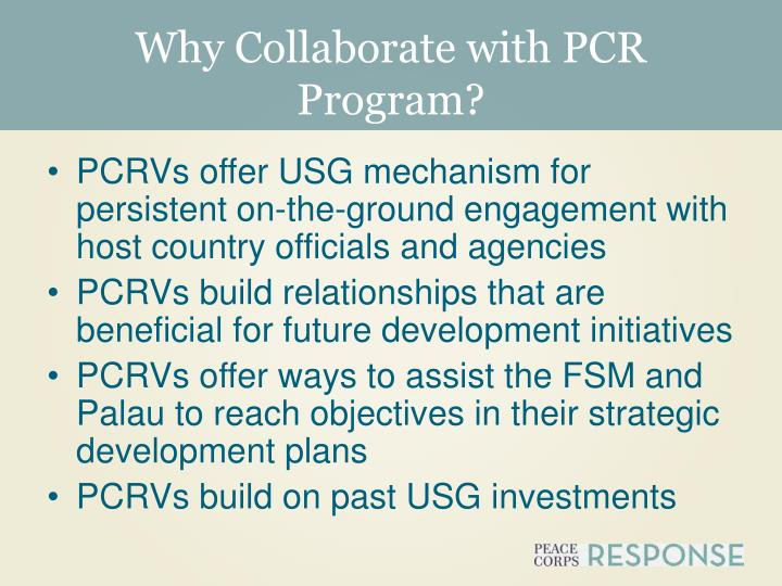 Why Collaborate with PCR Program?