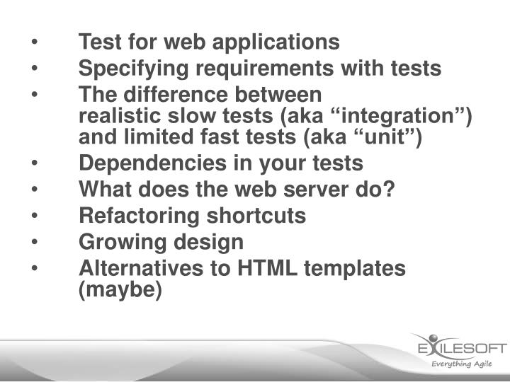 Test for web applications