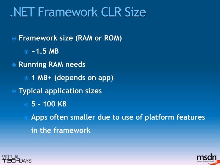 .NET Framework CLR Size
