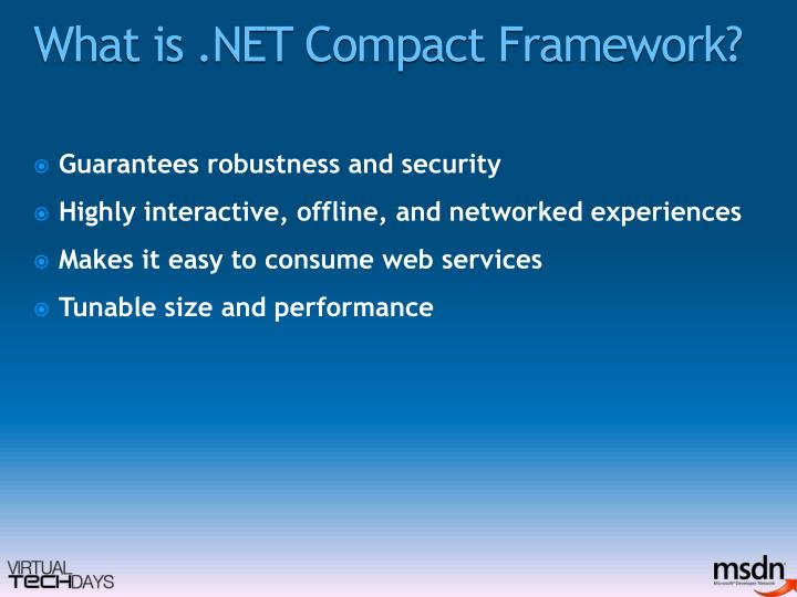 What is .NET Compact Framework?