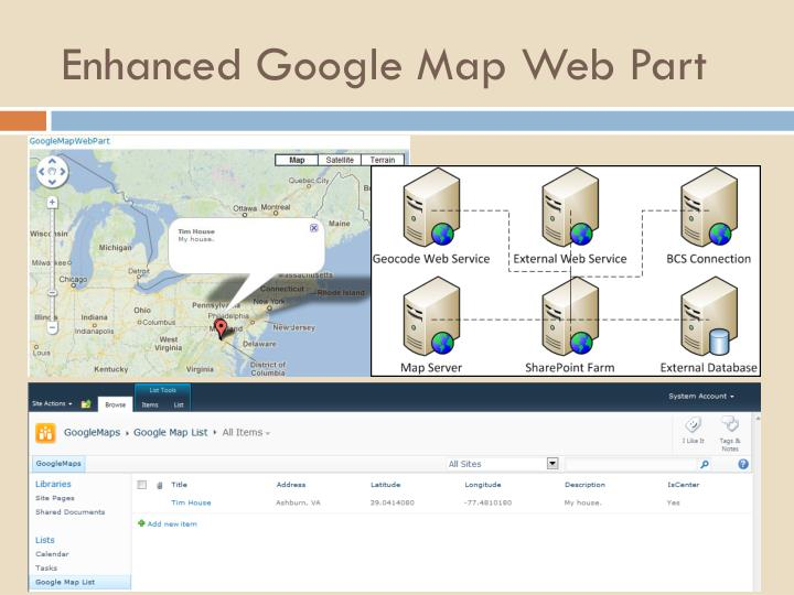 Enhanced Google Map Web Part