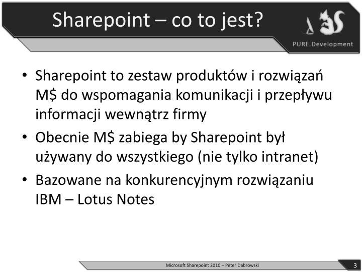 Sharepoint co to jest