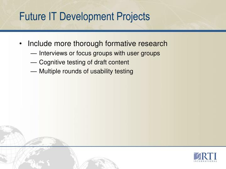 Future IT Development Projects