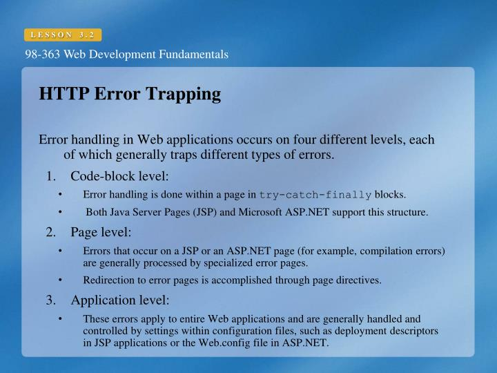HTTP Error Trapping