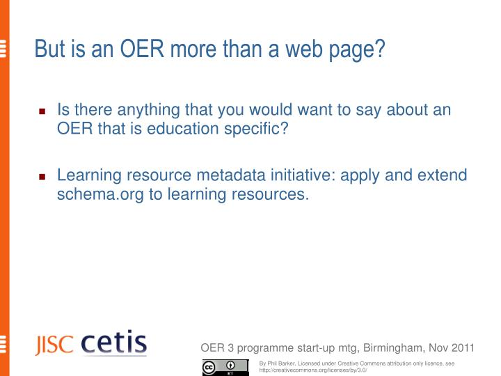 But is an OER more than a web page?