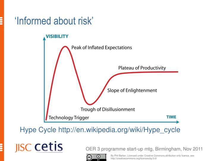 'Informed about risk'
