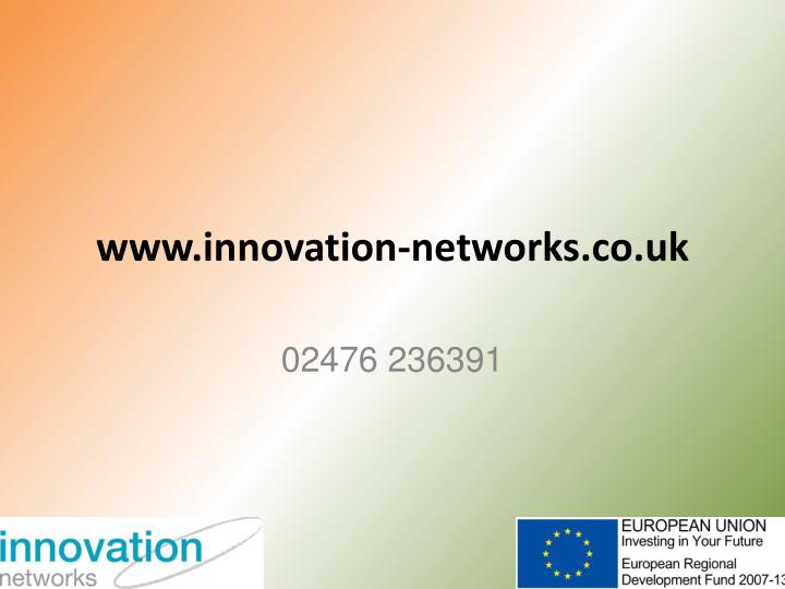 www.innovation-networks.co.uk