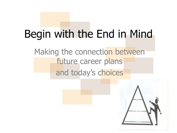 Ppt Begin With The End In Mind Powerpoint Presentation Id 2908204