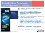 innovation union commitments an open labour market for researchers