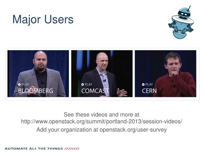 Major Users