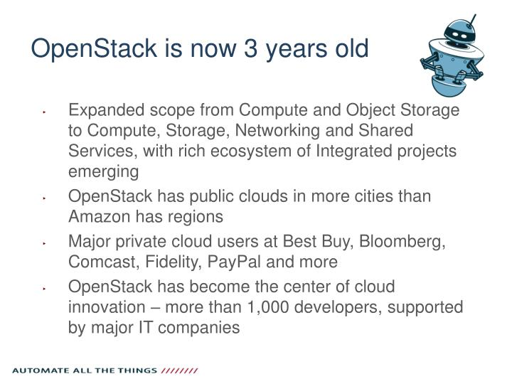 OpenStack is now 3 years old