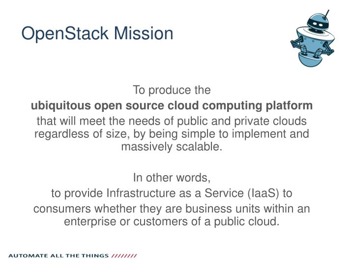 Openstack mission