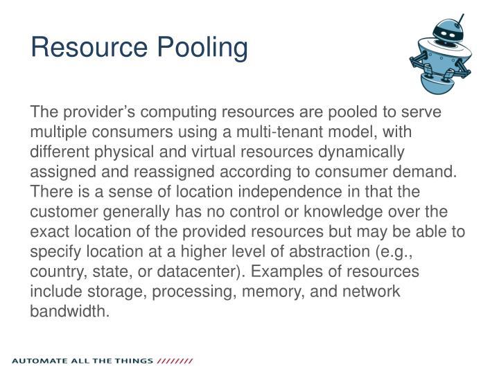 Resource Pooling