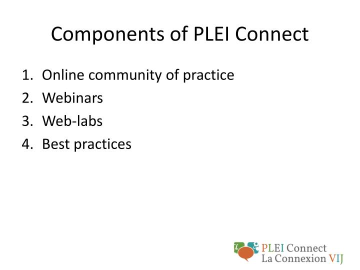 Components of PLEI Connect