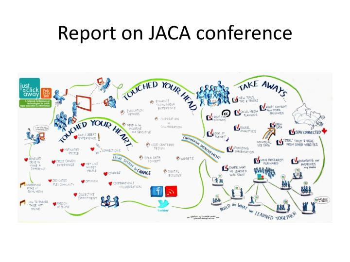 Report on jaca conference