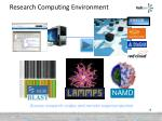 research computing environment