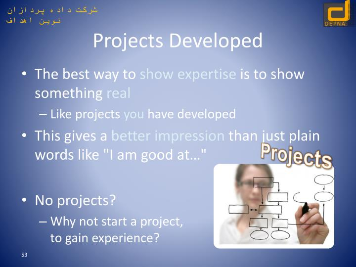 Projects Developed