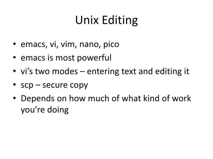 Unix Editing
