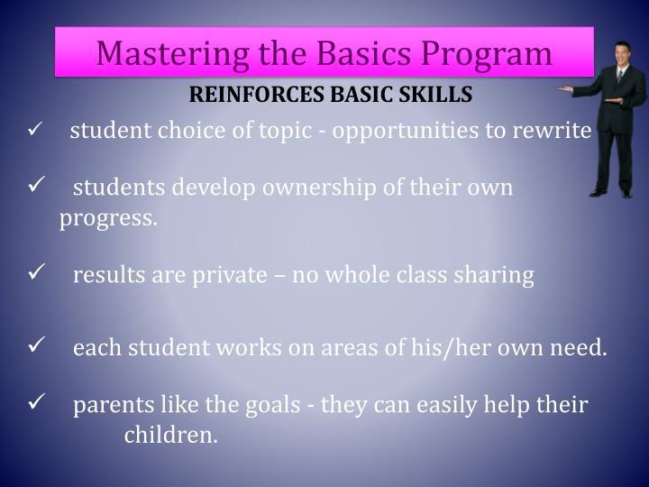 Mastering the Basics Program