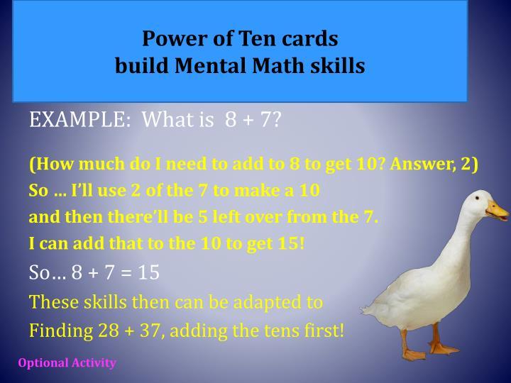 Power of Ten cards