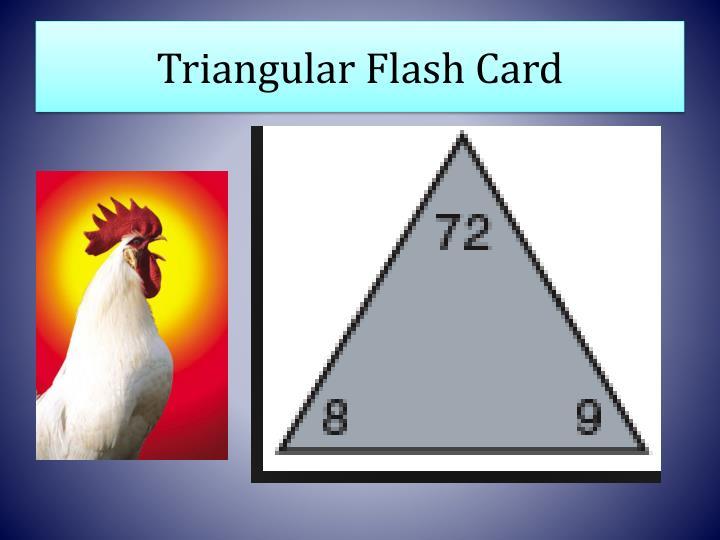 Triangular Flash Card
