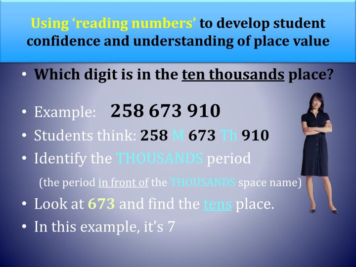 Using 'reading numbers'