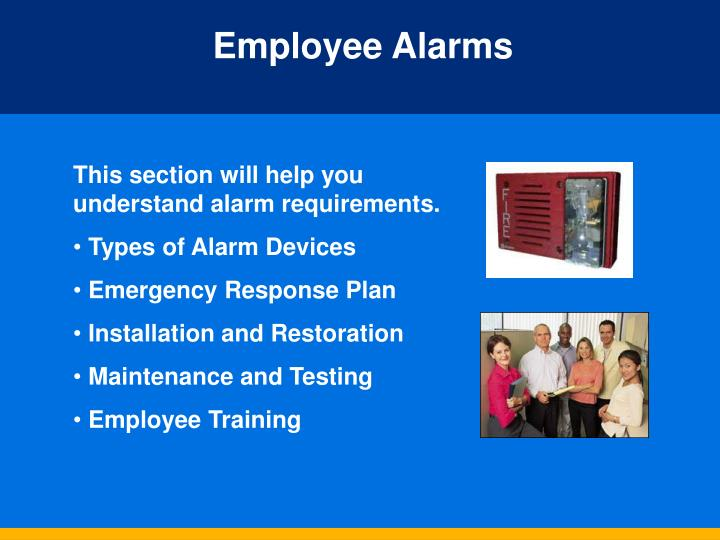 Employee Alarms