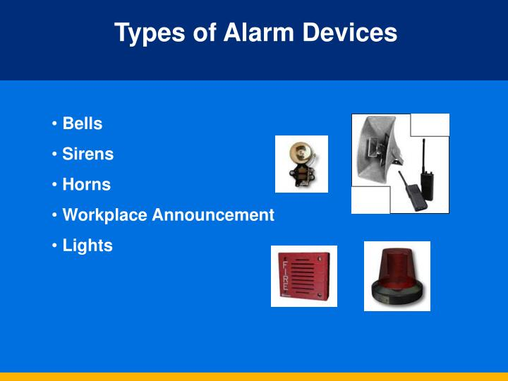 Types of Alarm Devices