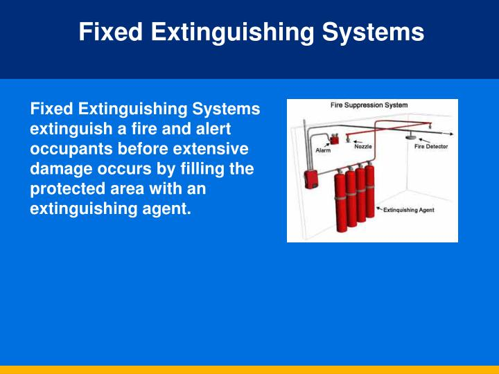 Fixed Extinguishing Systems