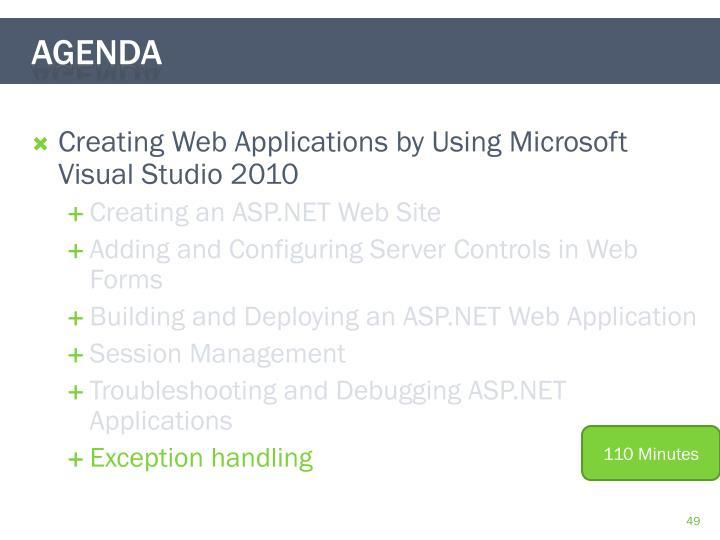 Creating Web Applications by Using Microsoft Visual Studio 2010