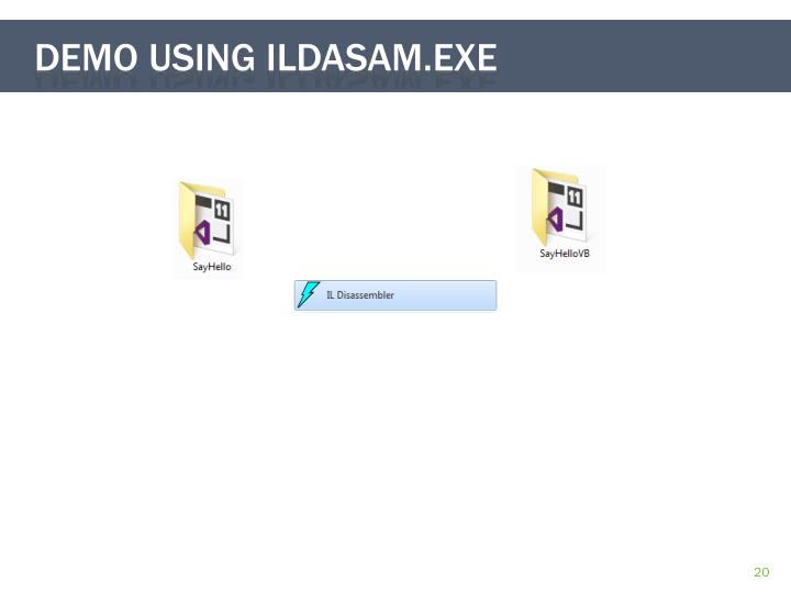 Demo Using ildasam.exe