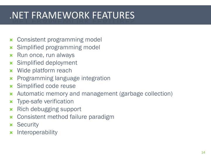 Consistent programming model