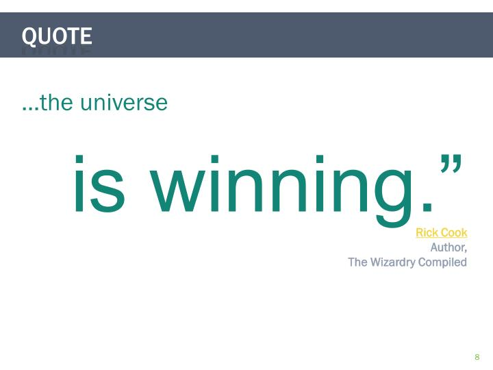 …the universe