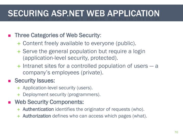 Three Categories of Web Security