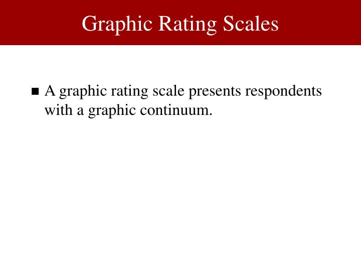 Graphic Rating Scales